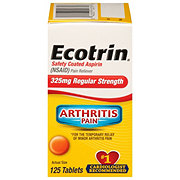 Ecotrin Aspirin Regular Strength 325 Mg Safety Coated Tablets