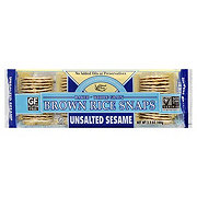 Edward & Sons Unsalted Sesame Brown Rice Snaps