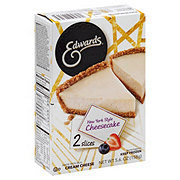 Edwards New York Style Cheesecake Pie Slices