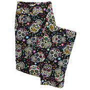EHL Day OF The Dead Sugar Skull Leggings Large
