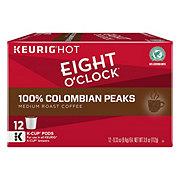 Eight O'Clock 100% Colombian Peaks Medium Roast Single Serve Coffee