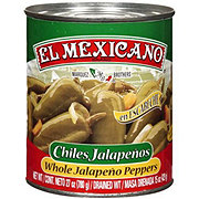 El Mexicano Whole Jalapeno Peppers