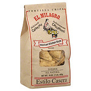 El Milagro Totopos, Thick 4-Way Cut Chip