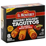 El Monterey Bigger! Bolder! Beef Cheddar & Monterey Jack Cheese Taquitos