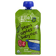 Ella's Kitchen Pears Apples + Baby Rice Baby Food (4+ months)