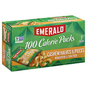 Emerald Cashew Halves & Pieces Roasted & Salted 100 Calorie Packs