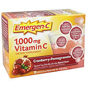 Emergen-C 1000 mg Vitamin C Cranberry-Pomegranate Flavored Fizzy Drink Mix Packets