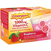 Emergen-C 1000 mg Vitamin C Raspberry Flavored Fizzy Drink Mix Packets