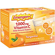Emergen-C 1000 mg Vitamin C Tangerine Flavored Fizzy Drink Mix Packets