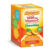 Emergen-C 1000mg Vitamin C Chewables Orange Blast