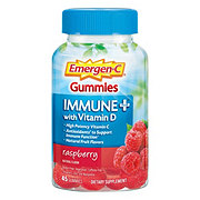 Emergen-C Gummies Immune + Vitamin D Raspberry