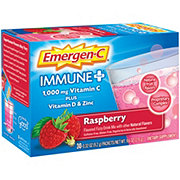 Emergen-C Immune + Dietary Supplement, Raspberry