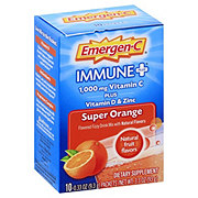 Emergen-C Immune Plus Super Orange Dietary Supplement Drink Mix