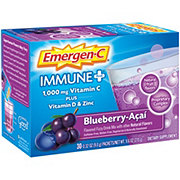 Emergen-C Immune + System Support With Vitamin D Blueberry-Acai Flavored Fizzy Drink Mix Packets