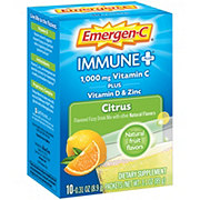 Emergen-C Immune + System Support With Vitamin D Citrus Fizzy Drink Mix Packets