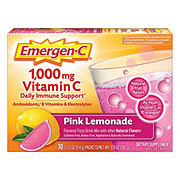 Emergen-C Pink Vitamin C 1000 mg Pink Lemonade Flavored Fizzy Drink Mix Packets