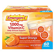 Emergen-C Vitamin C 1000 mg Super Orange Flavored Fizzy Drink Mix Packets