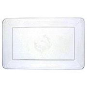 EMI Yoshi Clear Rectangular Serving Tray, 12 X 18 inch