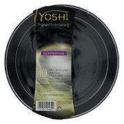EMI Yoshi Glimmerware Black & Silver Dinner Plates, 10.25 inch