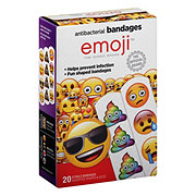 Emoji Fun Shaped Antibacterial Bandages