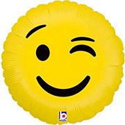 Emojis 18 Inch Emoji Wink Foil Balloon