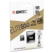 EMTEC microSDHC 16GB Class10 Gold Memory Card