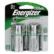 Energizer E2 Rechargeable D Batteries 2500Mah