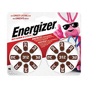 Energizer EZ Turn & Lock Size 312 Hearing Aid Batteries