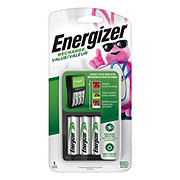 Energizer Recharge Value Charger for NiMH Rechargeable AA /AAA Batteries