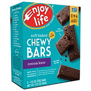 Enjoy Life Gluten Free Allergy Friendly Cocoa Loco Vegan Free Soft Baked Chewy Bars