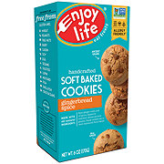 Enjoy Life Gluten Free Allergy Friendly Gingerbread Spice Vegan Soft Baked Cookies