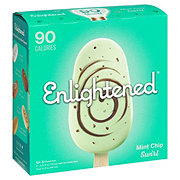 Enlightened Mint Fudge Swirl Ice Cream Bars