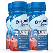 Ensure Enlive Advanced Nutrition Shake Strawberry Ready-to-Drink 4 pk