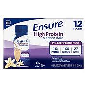 Ensure High Protein Nutrition Shake Vanilla Ready-to-Drink 12 pk