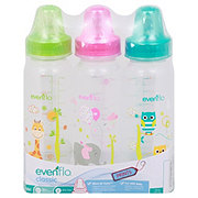 Evenflo Zoo Friends 8 OZ Bottle, Assorted Colors