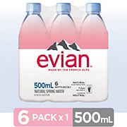 Evian Natural Spring Water 0.5 L Bottles