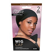 Evolve Black Wig Cap