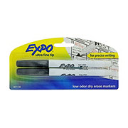 Expo Low Odor Black Ultra Fine Dry Erase Markers