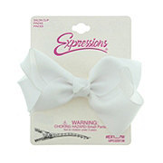 Expressions White Grograin Bow