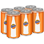 Fanta Orange Soda 7.5 oz Cans