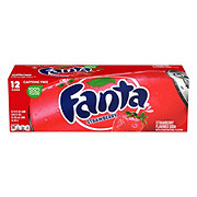 Fanta Strawberry Soda 12 oz Cans