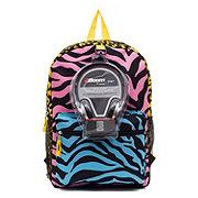 Fashion Accessory Bazaar Girls Animal Print Backpack w/ Headphones