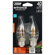 FEIT ELECTRIC 40-Watt LED Flame Tip Dimmable Chandelier Bulbs