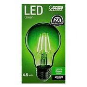 FEIT ELECTRIC A19 LED Filament Green Light Bulb