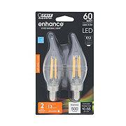 Feit Electric Enhance 60 Watt LED Flame Tip Soft White Light Bulb