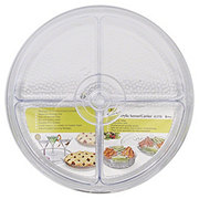 Felli Round Acrylic 6 ct Sectional Server/Carrier