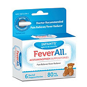 FeverAll Infants Acetaminophen 80 mg Suppositories