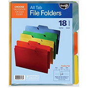 Find It 3 Tab Assorted Colors File Folders