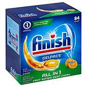 Finish All In 1 Gelpacs Orange Scent Dishwasher Detergent