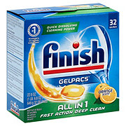 Finish Orange Grease Cutting Scent All In 1 Automatic Dishwasher Detergent Gelpacs